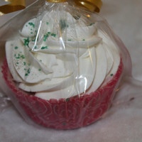 Cupcake ULTRASOFTENING Fizzy BATH BOMB Hot Apple Cider Decadent Cupcake Party Favor Gift Special Occassion Treat