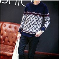 2015 New Autumn Japanese Men Casual Sweater Knit Pullover Turtleneck Sweater Influx Of Men And Men's Urban Fashion Slim