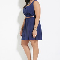 Plus Size Belted Dress | Forever 21 PLUS - 2000186947