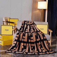 DIOR x Louis Vuitton Hot Sale Full Printed Retro Blanket D Home Coral Fleece Thickening Blanket Adult Single Bed Blanket