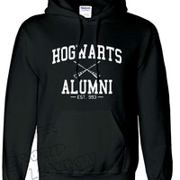 """New Very Famous """"Hogwarts Alumni"""" Printed Inspired from Movie """"Harry Potter'' Unisex Pullover Hoodie"""