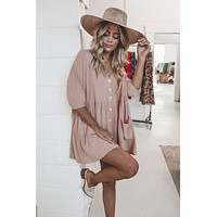 It Is What It Is Blush Babydoll Dress
