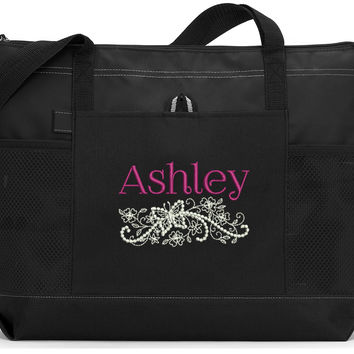 Butterfly Filagree Personalized Tote Bag