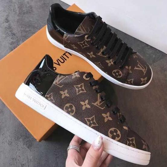 Image of Louis Vuitton LV Fashion Women Print Leather Flats Shoes Sneakers