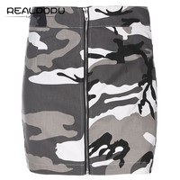 ZIPPLY Camouflage Denim Skirt