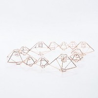 Geometric Candlestick Holder in Copper - Urban Outfitters