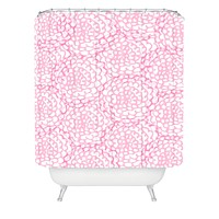 Julia Da Rocha Bed Of Pink Roses Shower Curtain