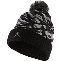 Air Jordan Pom Camo Knit Hat Black/Anthracite/Black/Gym Red 686937-010 (Size os)