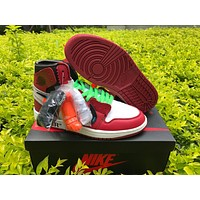 OFF-WHITE x Air Jordan 1 Beaverton, Oregon USA c.1985 Basketball Sneaker