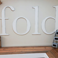 """29"""" Tall Word Fold for Laundry Room, Custom Word, Laundry Decor, Personalized Word"""