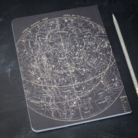 Astronomy Star Chart Softcover Notebook