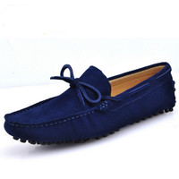 Plus size Grind genuine leather fashion sneakers casual breathable men shoes moccasins loafers hight quality flat driving shoes