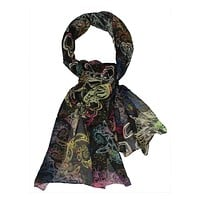 Runway scarf | Multi color neck accessory