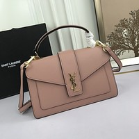 YSL Women Leather Shoulder Bag Satchel Tote Bag Handbag Shopping Leather Tote Crossbody 26cm