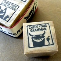 Check Your Grammar - Monster rubber stamps for teachers