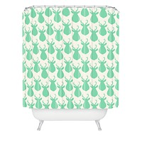 Allyson Johnson Minty Deer Shower Curtain
