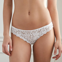 Embroidered Lace Cheeky Bikini