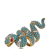 KENNETH JAY LANE GOLD Turquoise Snake Ring - ACCESSORIES   JEWELRY   Rings   PRET-A-BEAUTE.COM