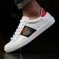 Gucci:Trending Fashion Casual Sports Shoes White