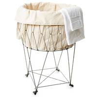 Wire Basket w/ Removable Tote, Laundry Hampers