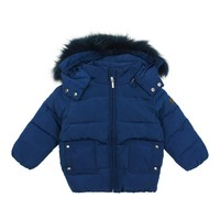 Pramie Boys' Blue Down Coat