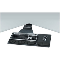 Fellowes 8035901 Professional Series Corner Executive Keyboard Tray W/Wrist Pads