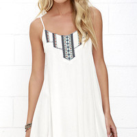 This Morning Ivory Embroidered Dress