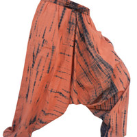 tie & dye harem pant ,drop crotch pant, Harem Pants, Hippie Pants , Boho Gypsy Pants , holiday pants, Yoga Pants