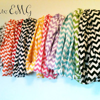 Chevron Infinity Scarves by SewEMG on Etsy
