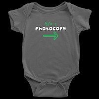 Twin Boys Infant One-Piece Body Suit (Part of Set) - He's a Photocopy