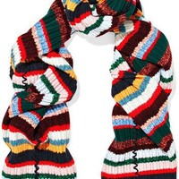 Burberry - Striped ribbed-knit scarf