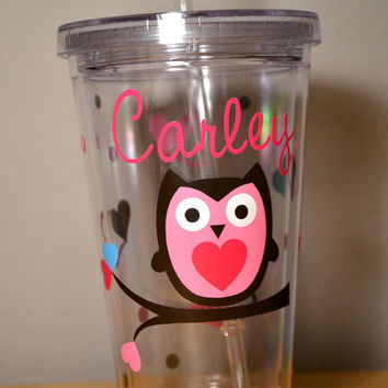 Personalized Owl Double Insulated Tumbler