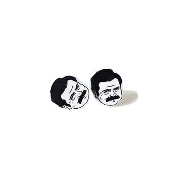 Mighty Mustache Earrings