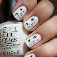 Cat Face Nail Decals 36Ct.