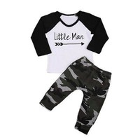 2pcs Kids Baby Boys Clothes Sets Casual Outfits Long Sleeve Tops Pants Cute Baby Boy Clothes Set