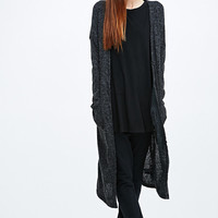 Sparkle & Fade Maxi Button-Down Cardigan in Grey - Urban Outfitters