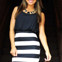 All The Right Places Dress: Black | Hope's