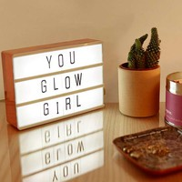Rose Gold A6 Light Box | Urban Outfitters