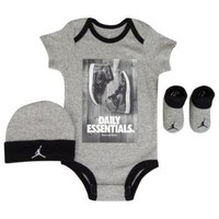 Jordan Daily Essentials 3 Piece Creeper Set - Boys' Infant at Kids Foot Locker