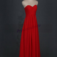 Latest red chiffom prom dresses hot,simple women gowns for wedding party,affordable evening dress on sale.