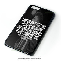 Bruno Mars Quotes Design for iPhone and iPod Touch Case
