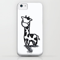 Giraffe ART CARTOON iPhone & iPod Case by KrashDesignCo.