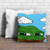 Pepe The Frog Meme Pillow | Aneend