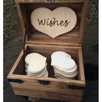 Country Barn Babe Wedding Wishes Chest - Early American