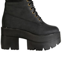 Platform Under Construction Boot - Black