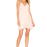 Lovers + Friends x REVOLVE Gigi Wrap Dress in Blush | REVOLVE