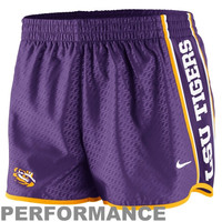 Nike LSU Tigers Womens Chainmaille Pacer Performance Shorts - Purple