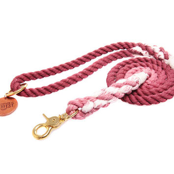 Cocoa Brown Ombré Rope Dog Leash