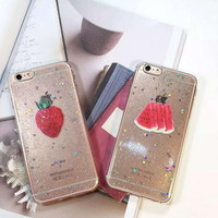 Strawberry watermelon phone case for iphone 6 6s 6 plus 6s plus + Nice gift box 080902