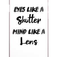 Eyes Lens IPhone Case (Case available for 5c/5s/6/6s7/ 7+) - PFIPHN0032